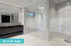 Decorative film shower screen - Window tinting Sunshine Coast
