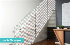 Decorative film staircase -