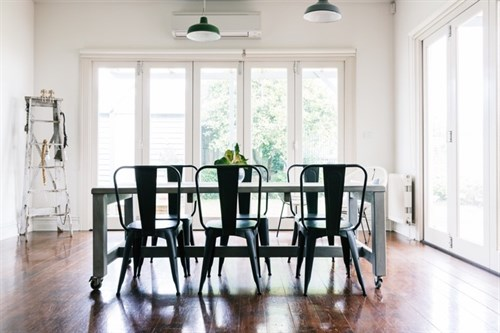 How to Tint Windows At Home - Tinted windows in dining room